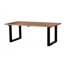 stół dębowy na metalowych nogach RUSTIC belbazaar