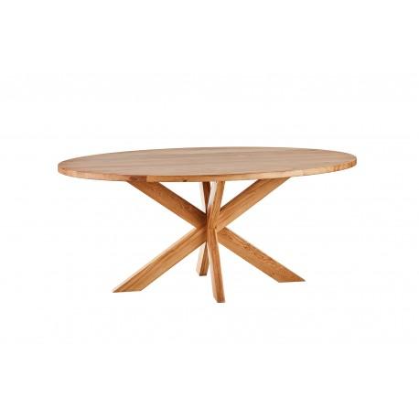 stół dębowy owalny Sun belbazaar