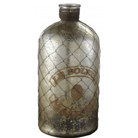 butelka z metalową siatką