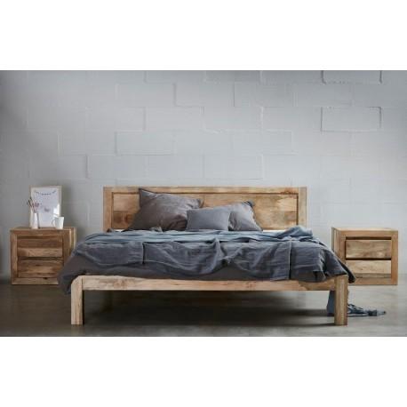 łóżko z drewna mango 5325 belbazaar