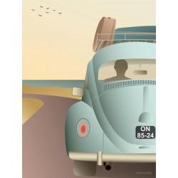 VW beetle plakat VISSEVASSE