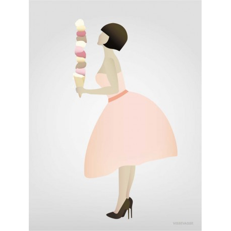Ice cream lady plakat VISSEVASSE