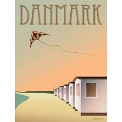 Danmark Beach Huts plakat VISSEVASSE