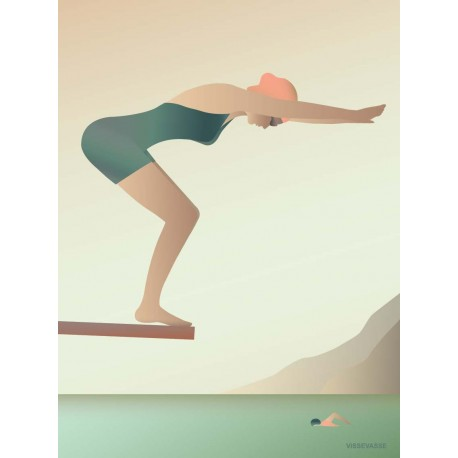 The swimmer plakat VISSEVASSE