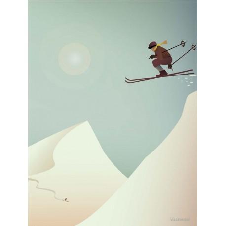 Skiing plakat VISSEVASSE