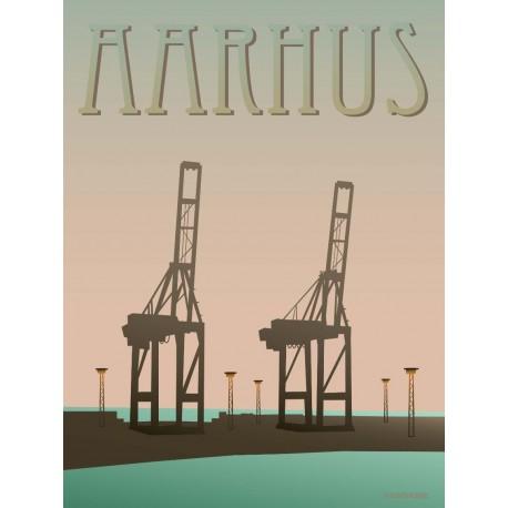 Aarhus Harbour plakat VISSEVASSE