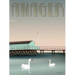 Amager Helgoland plakat VISSEVASSE
