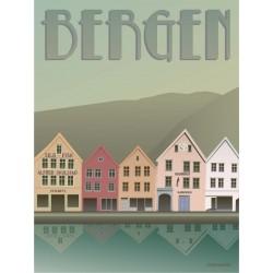Bergen Bryggen plakat VISSEVASSE