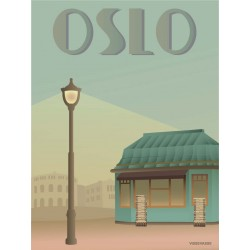 Oslo Newspaper shop plakat VISSEVASSE