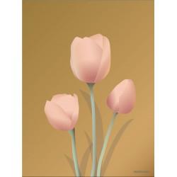 Tulips amber plakat VISSEVASSE