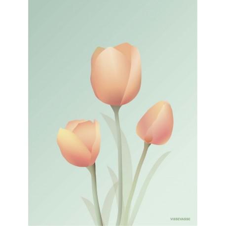 Tulips mint plakat VISSEVASSE