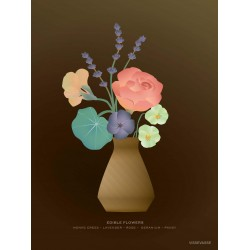 Flowers plakat VISSEVASSE