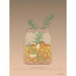 Oven-baked tomatoes plakat VISSEVASSE