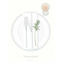 Eat good food plakat VISSEVASSE