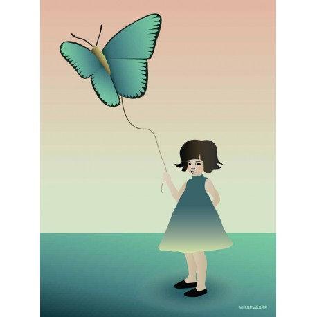 The Girl with the Butterfly plakat VISSEVASSE