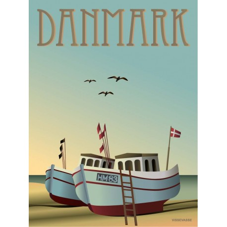 Denmark Fishing boats plakat VISSEVASSE