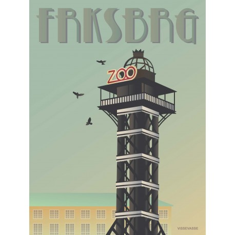 Frederiksberg Zoo-tower plakat VISSEVASSE