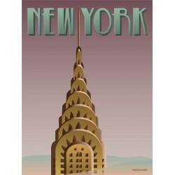 New York plakat VISSEVASSE