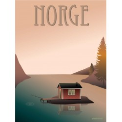 Norway Fisherman's cottage plakat VISSEVASSE