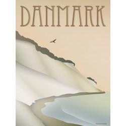 Denmark Cliff plakat VISSEVASSE