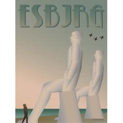 Esbjerg The White Men plakat VISSEVASSE