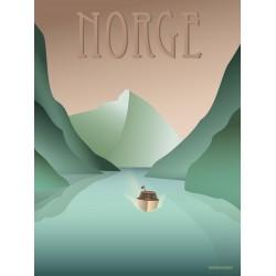 Norway Fjords plakat VISSEVASSE