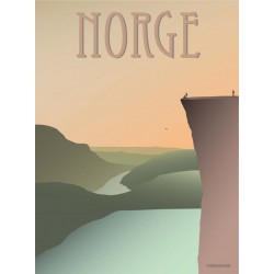 Norway Pulpit Rock plakat VISSEVASSE