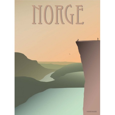 Norway Pulpit Rock plakat VISSEVASSE