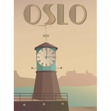 Oslo Aker Brygge plakat VISSEVASSE