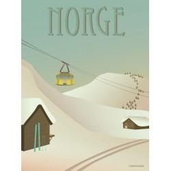 Norway Snow plakat VISSEVASSE