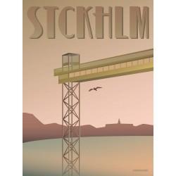 Stockholm Katarina lift plakat VISSEVASSE