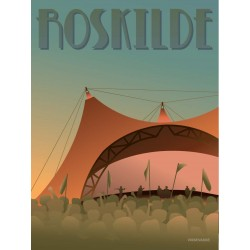 Roskilde Festival plakat VISSEVASSE