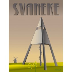 Svaneke Water Tower plakat VISSEVASSE