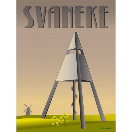 Svaneke Water Tower plakat VISSEVASSE
