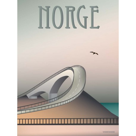 Norway The Atlantic Road plakat VISSEVASSE