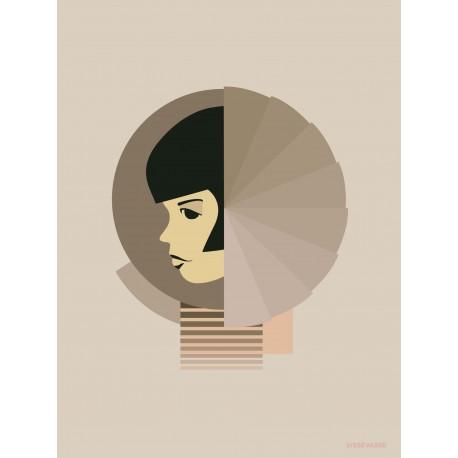Bauhaus shapes plakat VISSEVASSE
