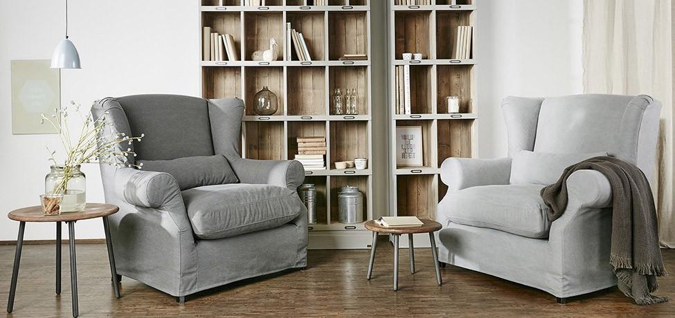 Fotele sofy Naturalne tkaniny obiciowe